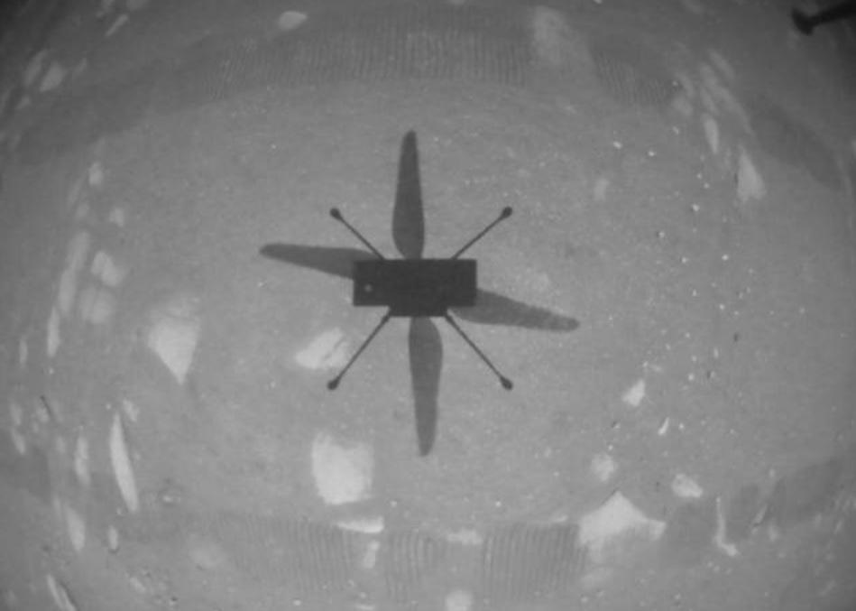 Helicóptero Ingenuity, da NASA, faz primeiro voo em Marte e marca momento histórico - 1