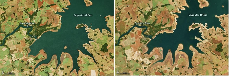 NASA divulga imagens de satélite da grave seca que atinge o Brasil - 1